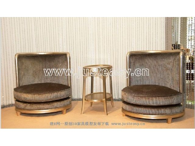 Combination of a low-key luxury chair 3D Model