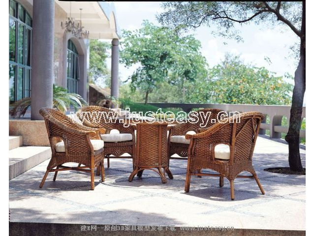 Combination of classical furniture, tables and chairs 3D Model