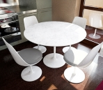 Combination of simple white tables and chairs (including maps) 3D Model