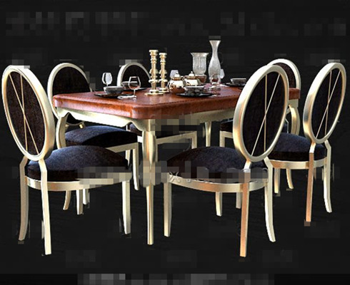 Comfortable modern wooden dining table 3D Model
