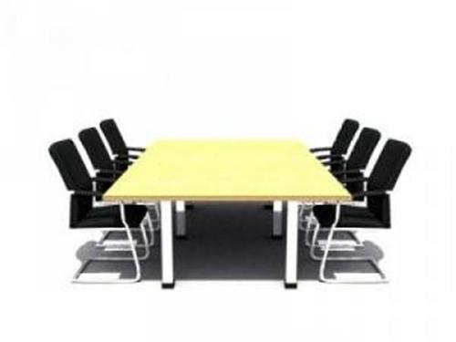 Conference table and chairs 3D Model