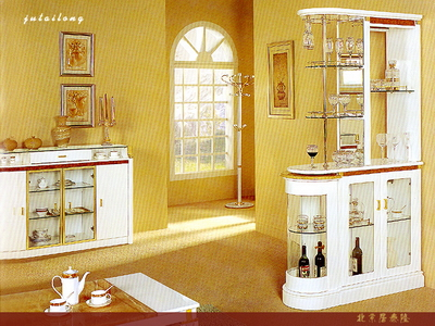 Continental Cocktail Cabinet Combination 3D Model