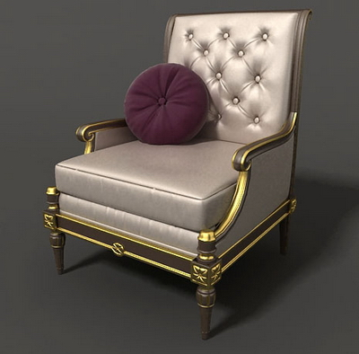Continental furniture- sa3-5 3D Model