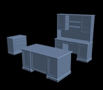 Continental furniture suite 3D Model
