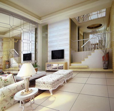 Continental Lite 3D model of the living room (including materials)