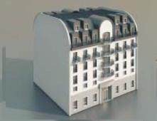 Continental residentials / Architectural Model-20 3D Model