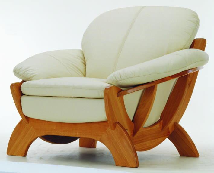 Contracted cloth art sofa single wood bottom 3D models