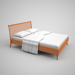 Contracted decayed wooden bed 3D models