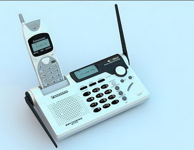 Cordless Phone Model 3D Model