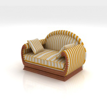 Country Single leisure sofa 3D model