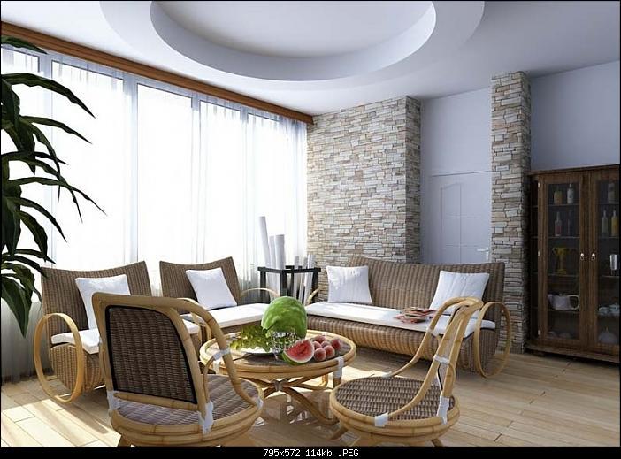 Countryside Style Livingroom Design 3D Model