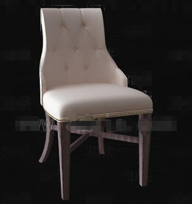 Cream stylish and comfortable chair 3D Model