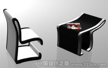 Creative tables and chairs combination of Modern Art 3D Model