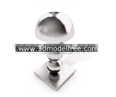 Crystal balls superimposed lamp 3D Model