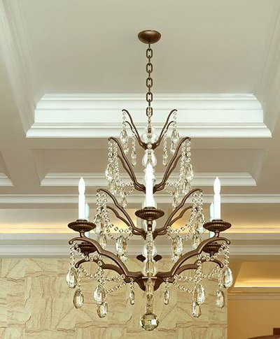 Crystal candle chandelier 3D models