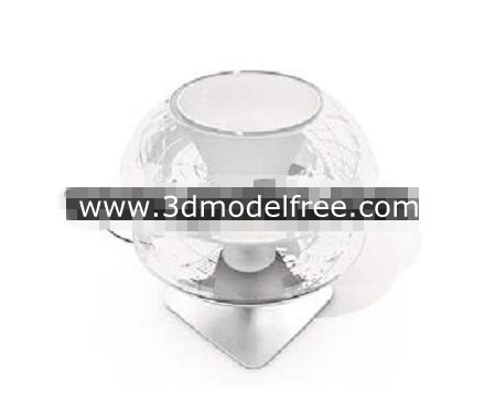 Crystal clear glass table lamp 3D Model
