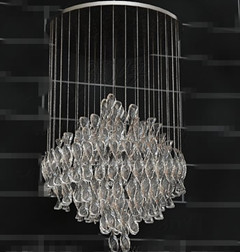 Crystal clear sequins pendant lamp 3D Model