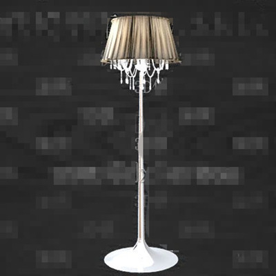 Crystal screens decorated floor lamp 3D Model