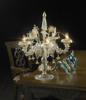 Crystal table lamp Model 08 3D Model