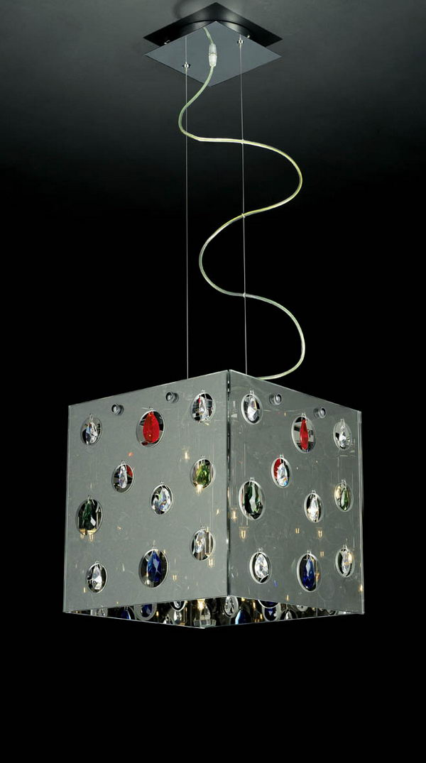 Cube Shape Pendant Lamp Model 3D Model