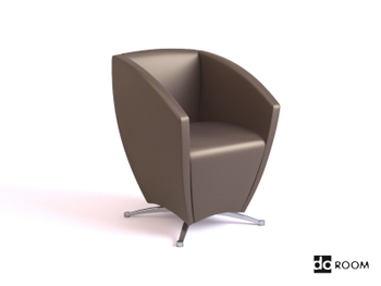 Dark coffee color special shape chair 3D Model