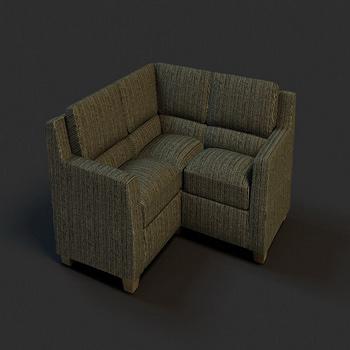 Dark corner sofa model 3D Model
