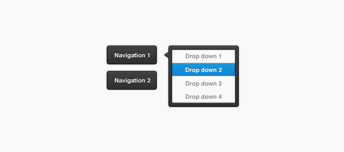Dark Dropdown and Buttons PSD
