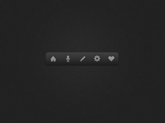 Dark Icon Dock PSD