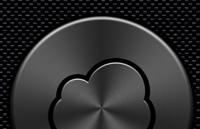 Dark Metallic iCloud Button PSD