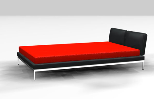 Dark red bed 3D models