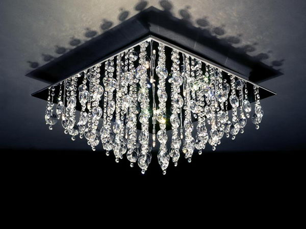 Deluxe Crystal Pendant Lamp 3D Model