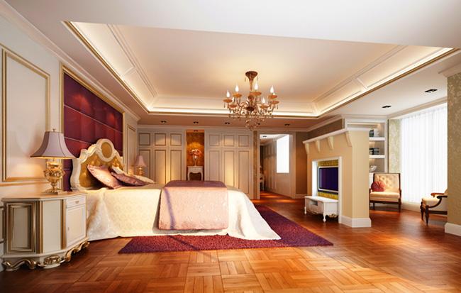 Deluxe European Bedroom Design 3D Model