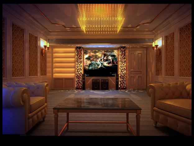 Deluxe Hifi Room Design 3D Model