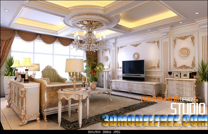 Deluxe House Decoration: Elite Life 3D Model