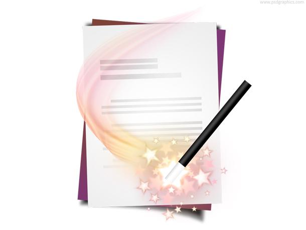 Document wizard icon (PSD)
