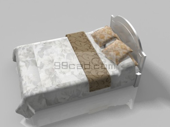 Double bed 3D Model Download