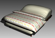 Double Bed Design Series A Iridescent Striped 3D Model