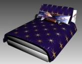 Double Bed Design Series G: Starry Sky 3D Model