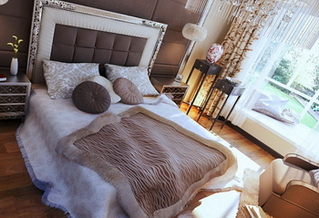 Download a warm European-style bedroom model (with texture mapping) 3D Model