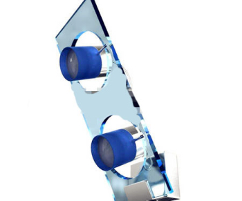 Dream blue glass wall lamp 3D Model