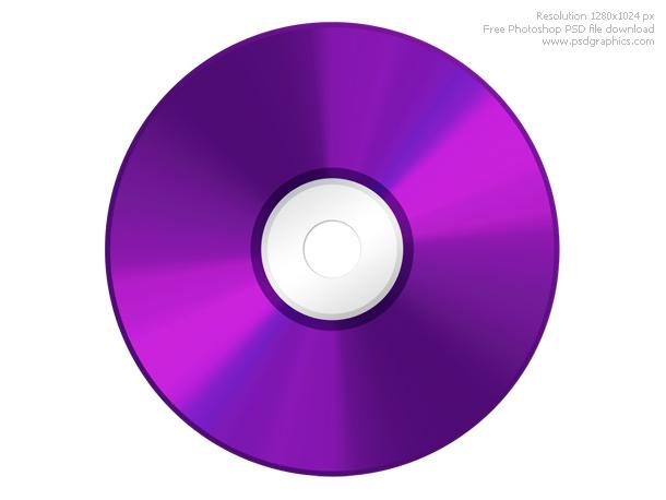 DVD disc icon PSD