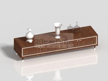 Dwarf stylish modern wooden cabinet 3D model