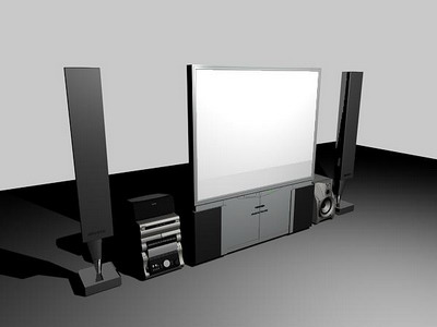electrical 4–home theater portfolio 3D Model