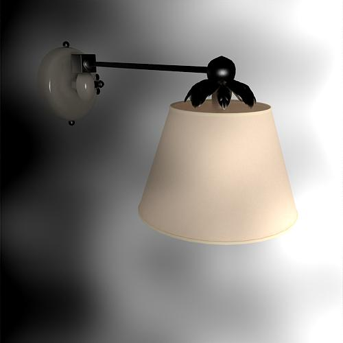 Elegant Chinese interior wall lamp 3D Model