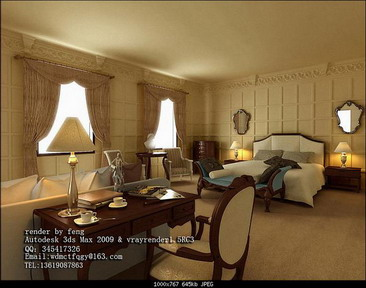 Elegant Hotel Bussiness Suit 3D Model