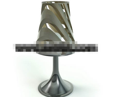 Embossed silver metal table lamp 3D Model
