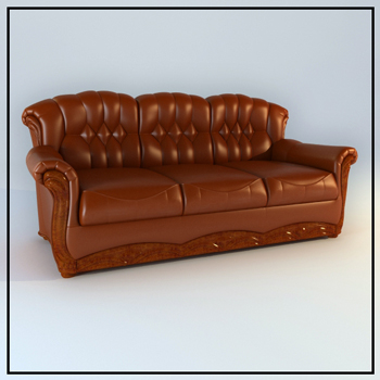 Europe type figure cortical people sofa 3D models