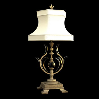 European art lamp wood restoring ancient ways 3D models