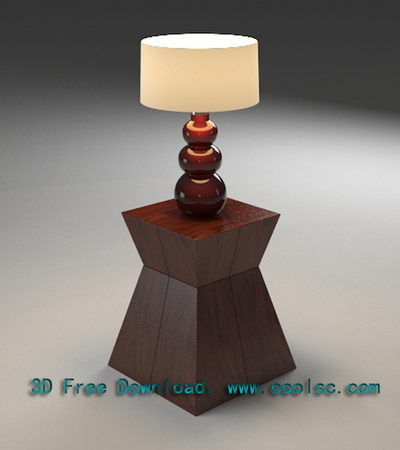 European Art Table Lamp 3D Model