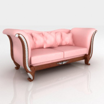 European beautiful people pink sofa 3D model